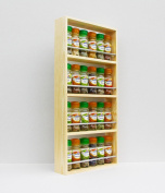 Solid Pine Spice Rack Holds Up To 24 Jars 4 Tiers
