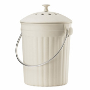 Cream Eco Compost Caddy - Composting Bin for Food Waste Recycling