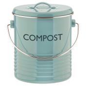 Typhoon Vintage Summer House Blue Kitchen Metal Compost Caddy Bin