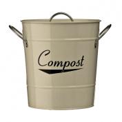 Galvanised Steel Compost Bin With Powder Coated Cream Zinc Handles