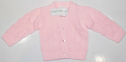 Baby Girls Fancy Knit Cardigan. New Born to 3-6 Months.