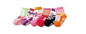 Baby Girls Infant Ballet Ballerina Socks 6 packs Anti Slip Pink Age 2 3 4