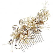Grace Wedding Hair Comb 14cm (Gold/Ivory)