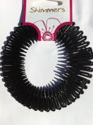 2pc Black Flexi Zig Zag Band Comb Grip