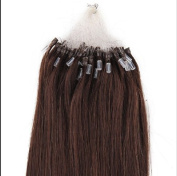 100S Loop Micro Ring Remy Human Hair Extension Dark Brown 46cm /50g