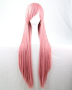 Womens/Ladies 80cm PINK Colour Long STRAIGHT Cosplay/Costume/Anime/Party/Bangs Full Sexy Wig