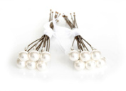 12 x Handmade Small White Pearl Wedding Hair Pins Made With. ELEMENTS