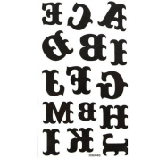 Watertight tattoo sticker black totem letters of the alphabet A to M