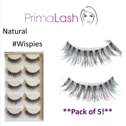 PrimaLash 5 Pairs False Eyelashes Natural Wispies Value Pack