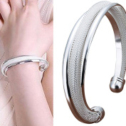 Fashion Jewellery Women's Silver Plated Cuff Bracelet Ladies Bangle