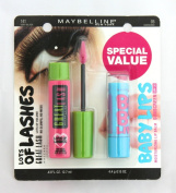 Maybelline GREAT LASH Mascara Very Black 141 & FREE BABY LIPS Moisturising Lip Balm Quenched 05