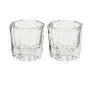 2x Nail Art Acrylic Liquid Powder Dappen Dish Glass Crystal Cup Glassware Tools