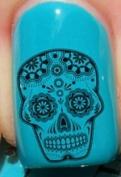 Sugar Skull Black - Nail Decals by YRNails