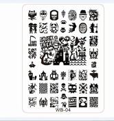 Davidsonne Halloween Nail art Tips Image Stamp Plates Polish Stamping Manicure Image DIY WB04