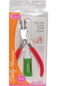 Sally Hansen Soft Grip Cuticle and Nail Clipper - 12cm x 6 cm