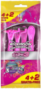 Wilkinson Sword Extra Beauty Female Disposable Razors - Pack of 4
