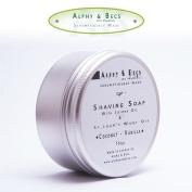 Alphy & Becs Shaving Soap With Jojoba Oil & St.John's Wort Infusion Oil - Coconut & Vanilla - 100gr.
