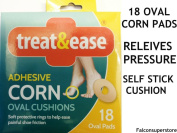 OVAL CORN PADS. SELF ADHESIVE OVAL CUSHION SELF PROTECTIVE RINGS REDUCE PRESSURE  .   FROM SHOE FRICTION FOOTCARE CALLUS