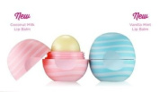 Eos Visibly Soft Lip Balm -Coconut Milk plus Vanilla Mint - Pack of two different flavours