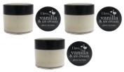 3x I Love...Vanilla & Ice Cream Glossy Lip Balm 15ml