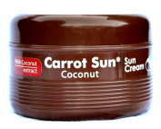 Carrot Sun® Coconut Tan Accelerator with L-Tyrosine, Coconut Oil, & Henna for a GOLDEN tan-FAST! 350ml