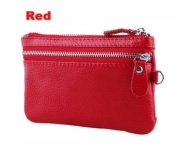 Red Multifunctional Disco / Night Out Clutch Bag / Purse / Key Holder / Make Up Bag / Mobile Phone Storage, Made With 100% Genuine Real Leather