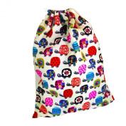 Kids Cotton Drawstring Gym/Swim/Shoe Bag - Turtles