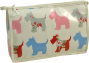 Vagabond Scottie Dog Oil Cloth Large Holdall Washbag Toiletries