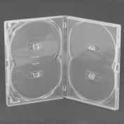 AMARAY DVD Cases Multibox clear for 4 Discs