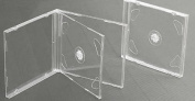 10 x Double CD Jewel Case Clear Tray
