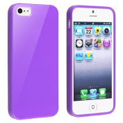 JKase (TM) TPU Rubber Skin Case Compatible with Apple® iPhone® 5 / 5S