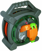 Masterplug HLP2013/2IP 20m Outdoor IP Rated Cable Reel with Weatherproof Sockets 13A Case Reel