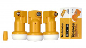 Televes Universal single LNB - NF 0,3dB- Orange