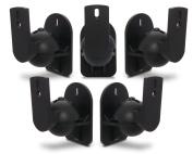 Black Universal Speaker Wall Brackets Mounts 5 pcs