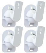 White Universal Speaker Wall Brackets Mounts 4 pcs