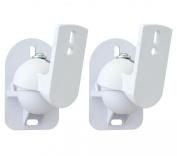 White Universal Speaker Wall Brackets Mounts 2 pcs
