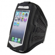 King of Flash iPhone 5 iPhone 5S iPhone 5C Strong Mesh Black ArmBand Case Cover For Sports GYM Bike Cycle Jogging - Tie Phone With Your Arm