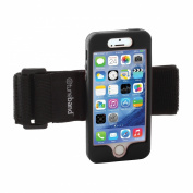 TuneBand for iPhone SE / iPhone 5S, Premium Sports Armband with Two Straps and Two Screen Protectors, BLACK