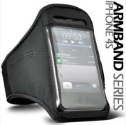 BLACK SPORTS ARMBAND STRAP HOLDER CASE COVER APPLE IPHONE 4/4S