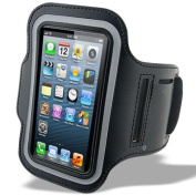 Urban Runner iPhone 4, 4s Black Sports Armband Premium Quality ideal for Jogging, Running, Gym, Cycling, Hiking - Strong Waterproof Cover