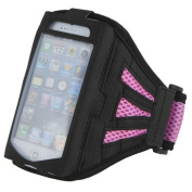 iPhone 5 Strong Mesh Pink ArmBand Case Cover For SPORTS GYM BIKE CYCLE JOGGING, Tie Phone With Your Arm - by KING OF FLASH