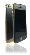 Two Tone Brushed Metal Titanium Gold Skin Sticker Wrap cover for iPhone 5 ...NOT CASE