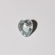 March birthstone heart - 5mm floating charm will fit Living memory lockets and Origami Owl style lockets