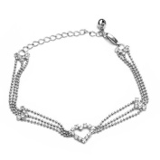 White Gold Bead Anklet Ankle Bracelet Chain Crystal Fashion Jewellery New Charm