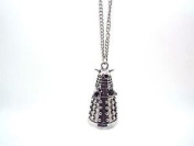 80s Retro Doctor Who Darlek Charm Pendant Necklace