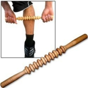 Muscle Roller Stick Travel Massage Tool with 19 Bi-Level Massager Wheels
