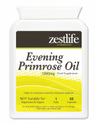Zestlife Evening Primrose Oil Capsules 1000mg - 60 easy to swallow soft gels *ON.