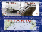 Titanic stamps - Stamp sheet celebrating the RMS Titanic - Mint and never mounted stamp sheet with 2 stamps
