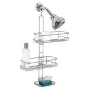InterDesign Linea Adjustable Shower Caddy, Silver