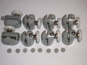 Set of 8 Shower door rollers 4 upper and 4 lower with caps 23mm